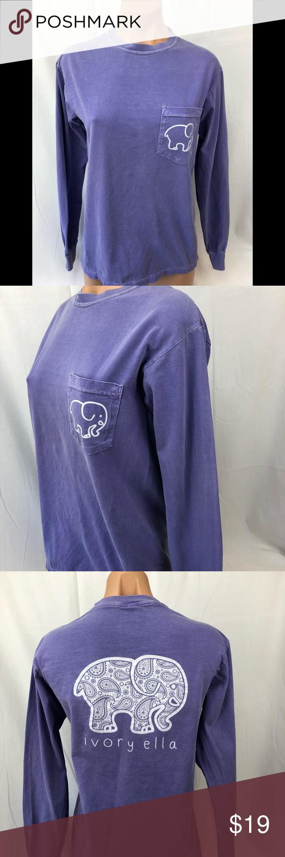 dfc2c9be0 Ivory ella elephant shirt long sleeves purple super cute light purple ivory  ella top with long