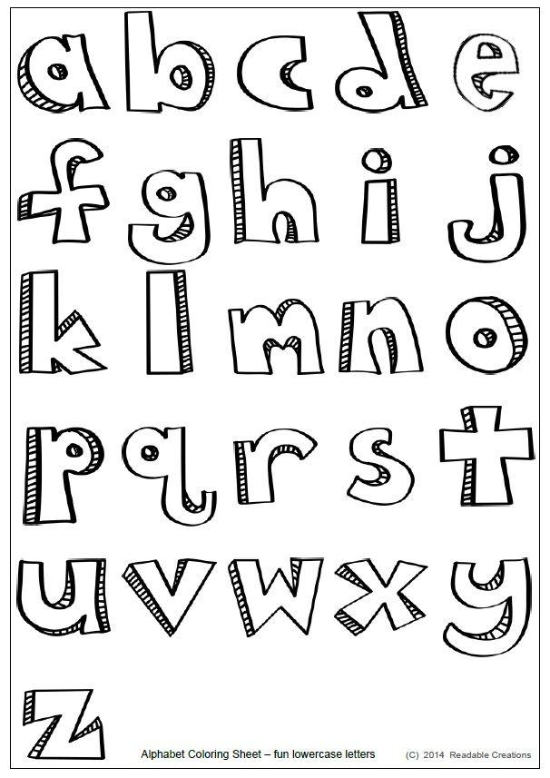 Alphabet Fun Coloring Sheet Freebie Lettering Alphabet Lettering Coloring Pages Inspirational