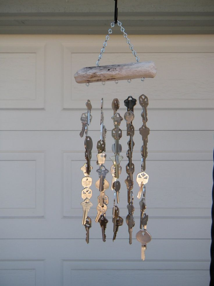 Homemade wind chime from junk diy wind chimes from junk for Wind chimes homemade crafts