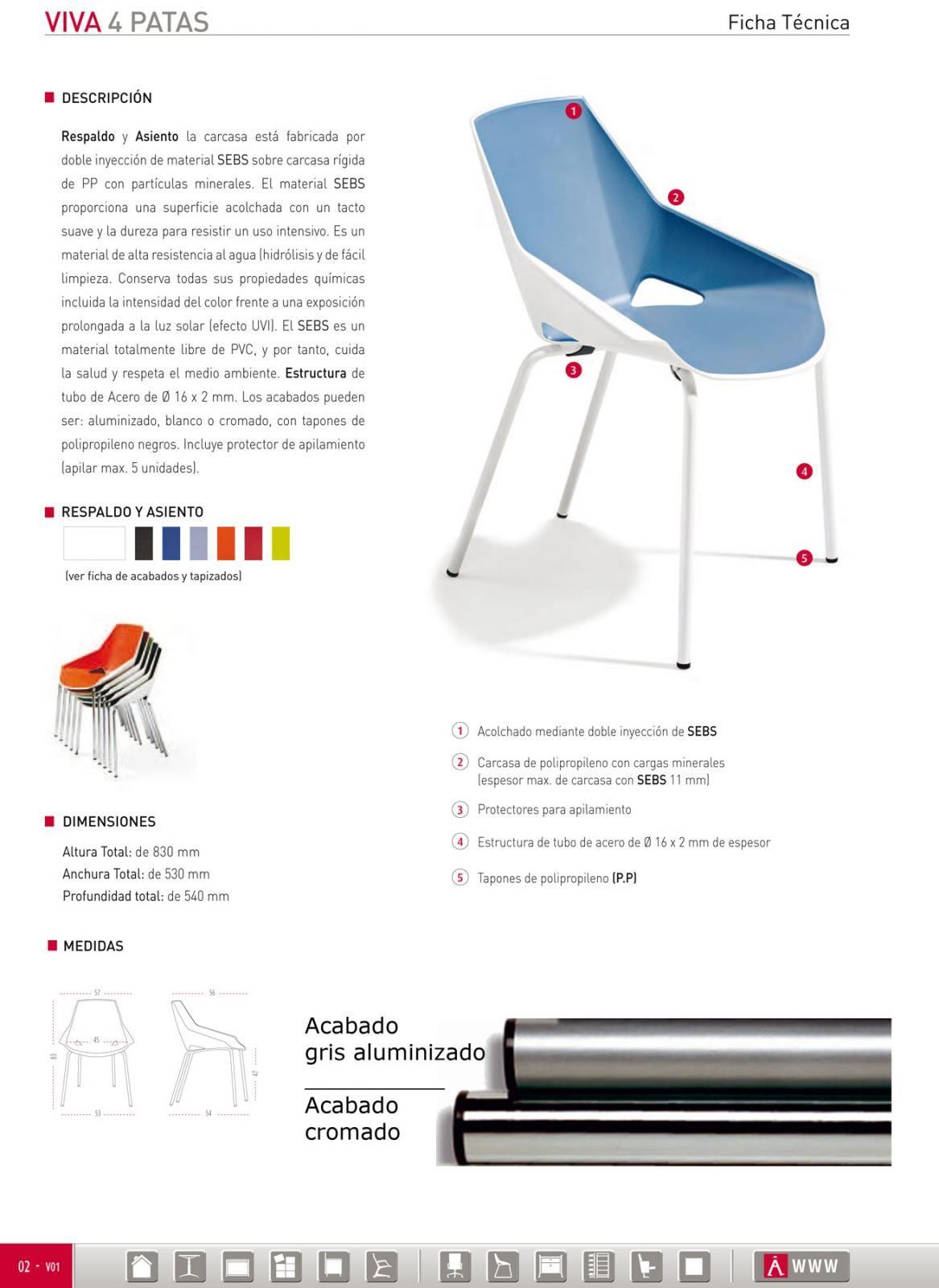 Muebles Ficha Tecnica - Pack De 4 Silla De Dise O Ber Vivaazulnegro Precios Comprar Pack [mjhdah]http://www.ruedasnegocios.com/286/Imagesclient/ficha16917.jpg
