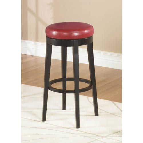 Red 30 Inch Backless Swivel Barstool Armen Living Bar Height 28 To 36