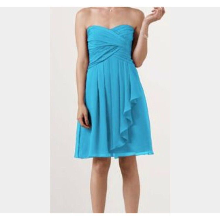 David S Bridal Bridesmaid Malibu Blue Dress Products In