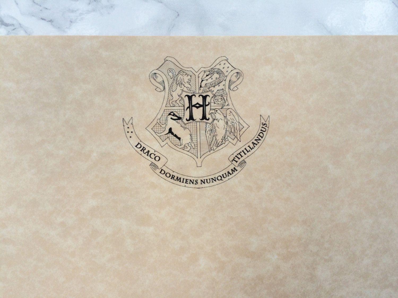Hogwarts Crest Parchment Stationery Harry Potter Writing Paper Letter