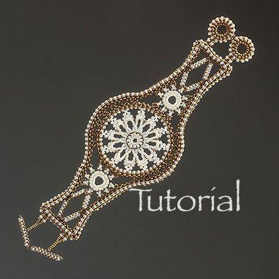 Whimsical Lace Cuff Bracelet Pattern - Large Phoot
