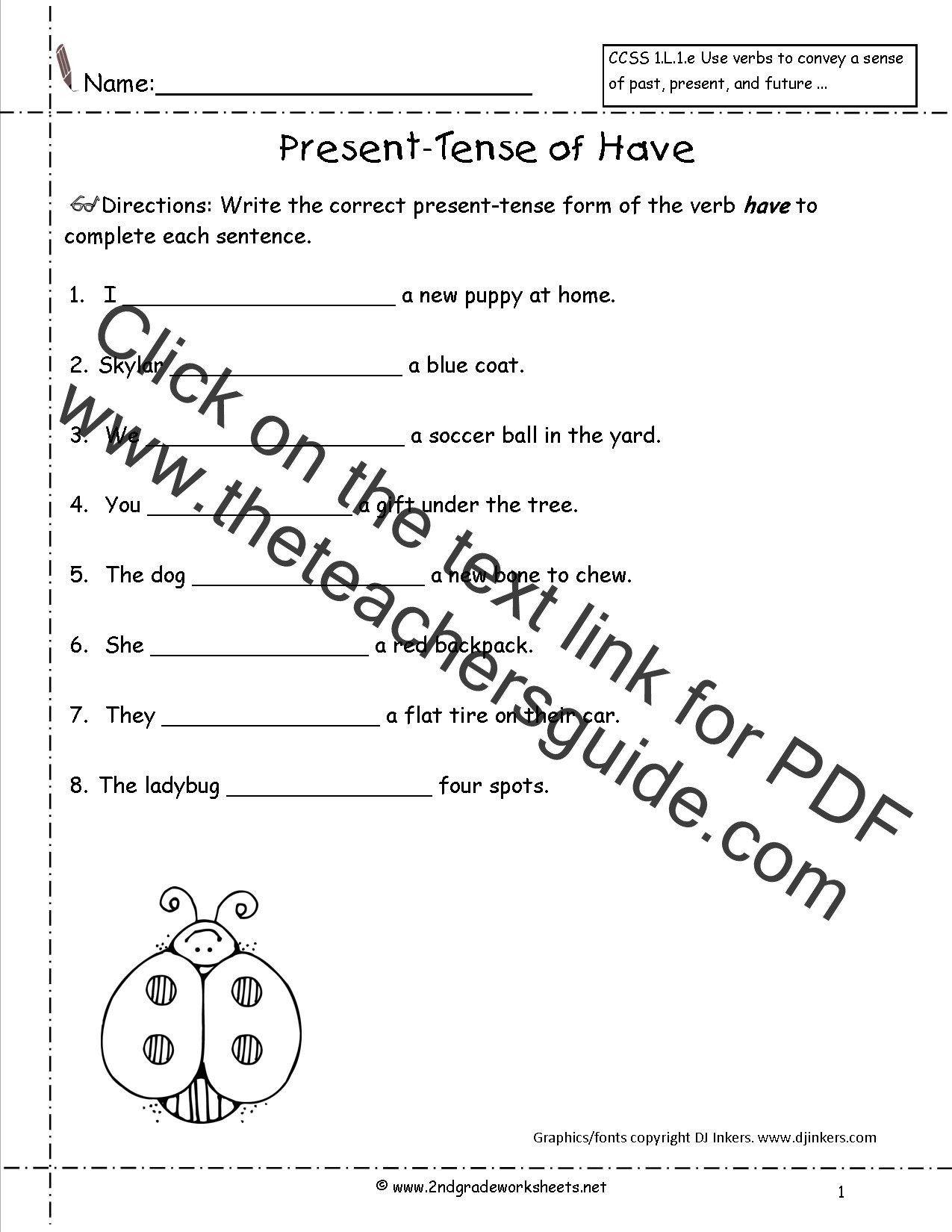 Second Grade Verb Worksheets 4th Grade Verbs Worksheet In 2020 Verb Worksheets Second Grade Verb