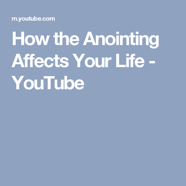 How the Anointing Affects Your Life - YouTube | Benny hinn ...