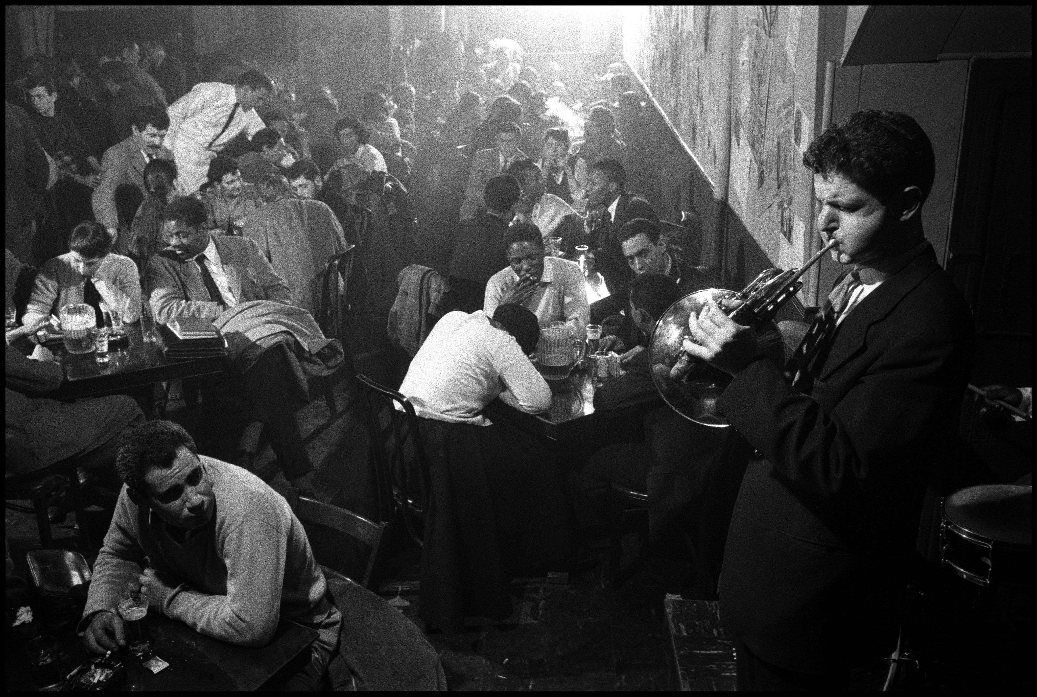 David Amram At The Five Spot Cafe, 1957. (Steve McCurry