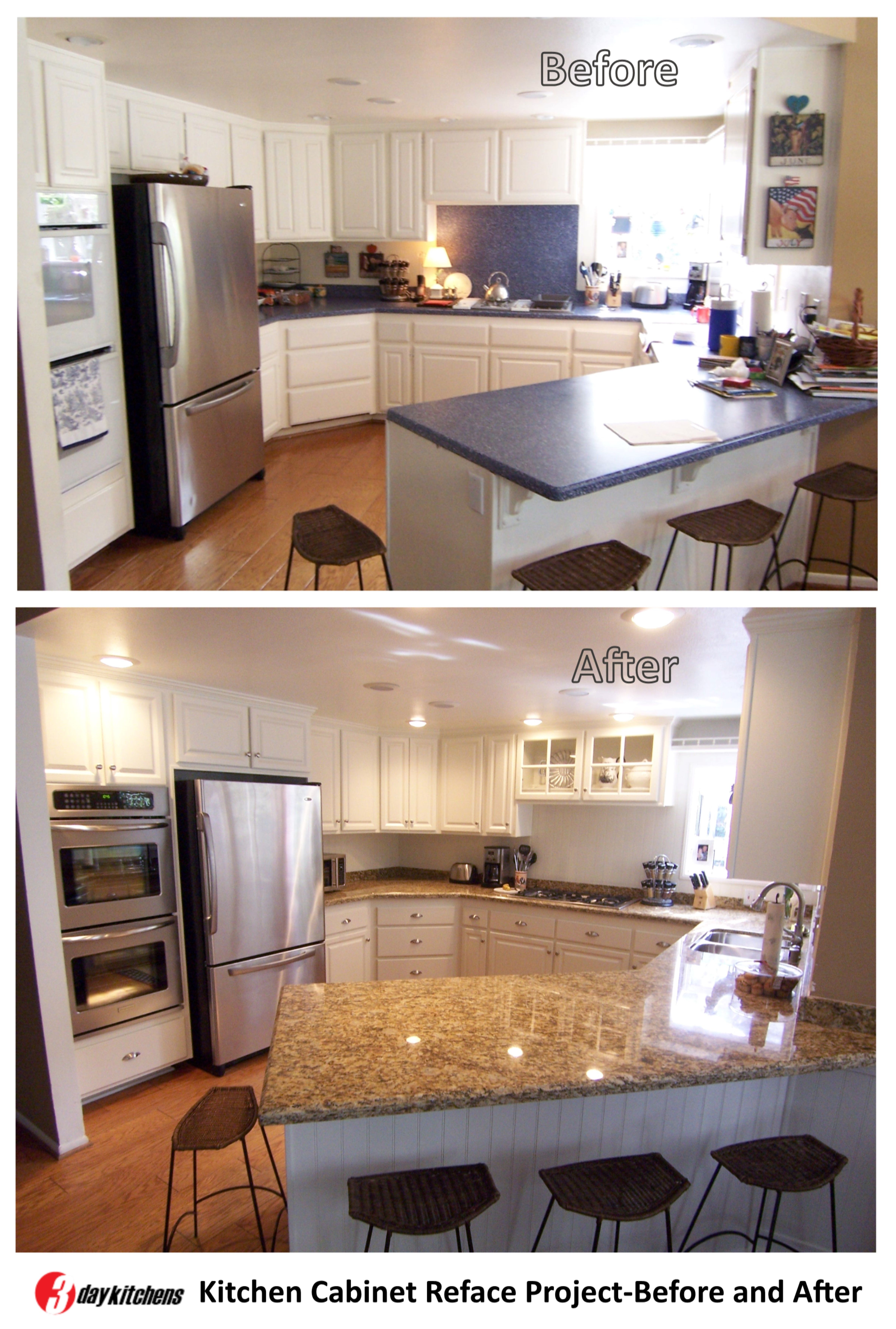 Kitchen Cabinet Reface Project Before And After Refacing Kitchen Cabinets Cabinet Refacing Kitchen