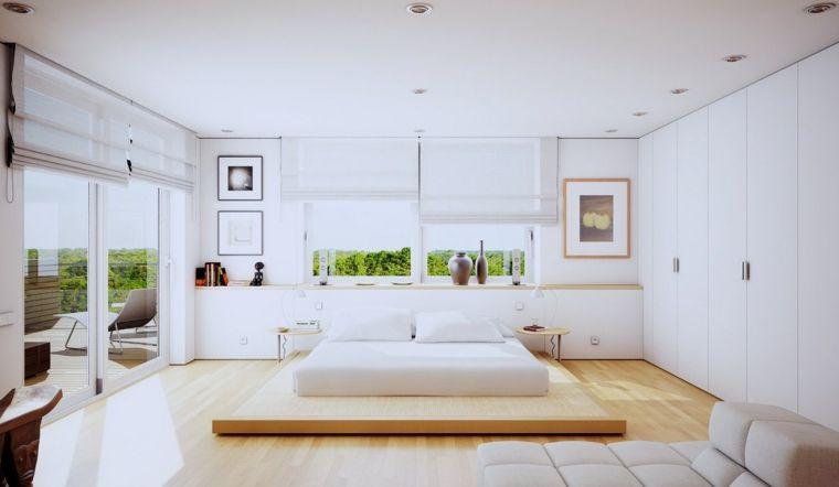recamaras modernas de color blanco Dormitorio Pinterest Camas