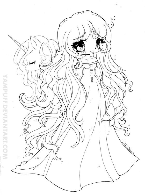 Image From Unicorn Coloring Pages Cool Coloring Pages Chibi Coloring Pages