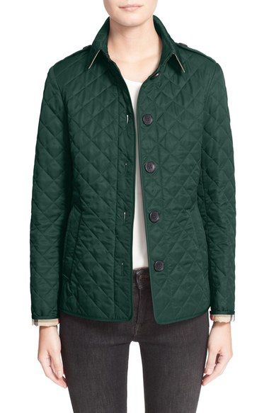 Burberry Brit Ashurst Quilted Jacket Available At Nordstrom Quilted Jacket Burberry Jacket Jackets