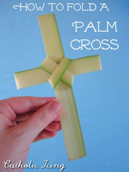 Step by instructions on how to make a palm cross