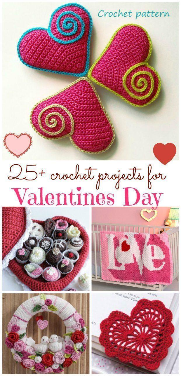 Valentine Crochet Patterns 25 Lovely Projects Valentines Day
