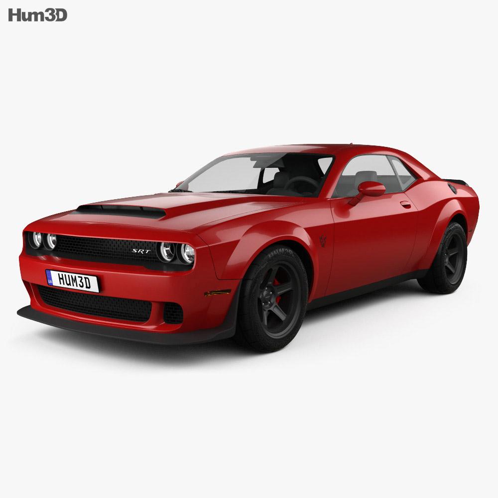 3d Model Of Dodge Challenger Srt Demon 2018 Dodge Challenger Srt Challenger Srt Challenger Srt Demon