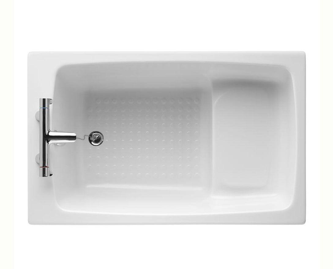 Hip bath. Armitage Shanks Showertub 1200 x 750mm | Space clever ...