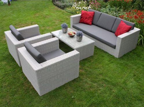 Tuinmeubel goedkope loungesets loungeset miranda wit