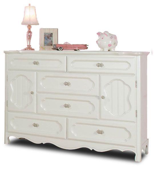 Adrian 6 Drawer 2 Door Dresser 95609 Baby Girl Dresser Drawers