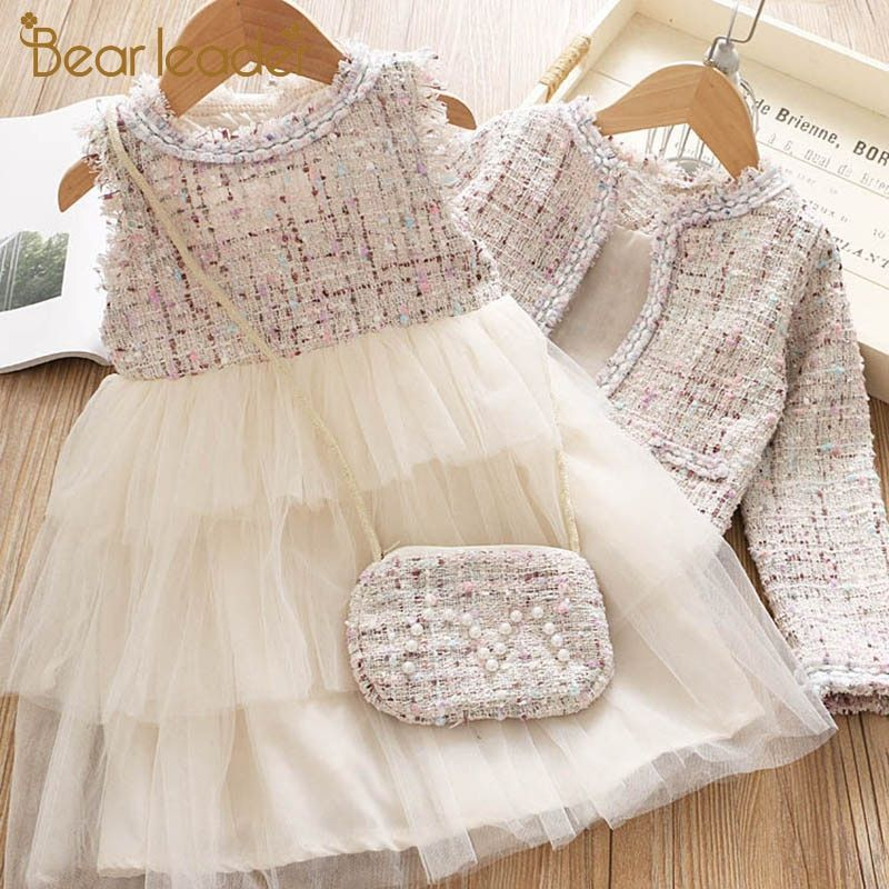 Bear Leader Girls Princess Dress New Brand Party Dresses Kids Girls Clothing Elegant Cute Girl Outfit Childr In 2020 Girl Outfits Dresses Kids Girl Girls Clothing Sets