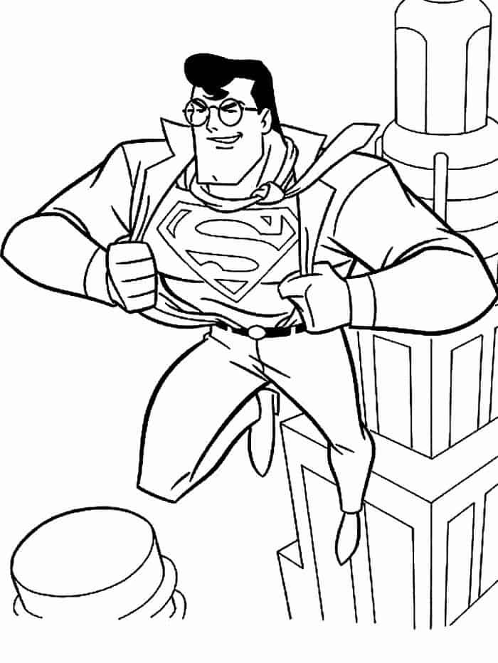 The Owner Of Daily Planet Newspaper Coloring Page Super Coloring Superman Coloring Pages Planet Coloring Pages Coloring Pages