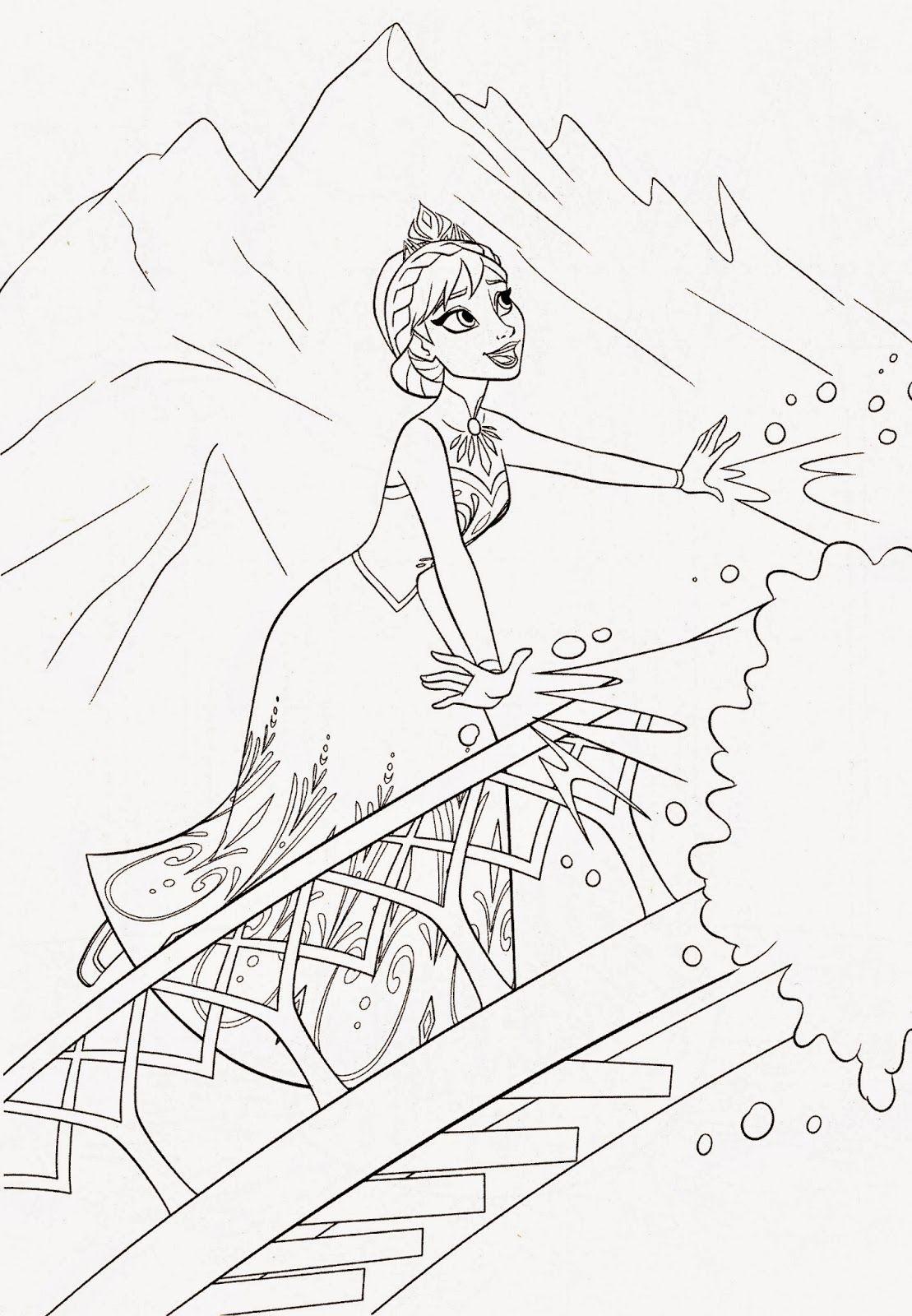 38+ Disney frozen castle coloring pages ideas
