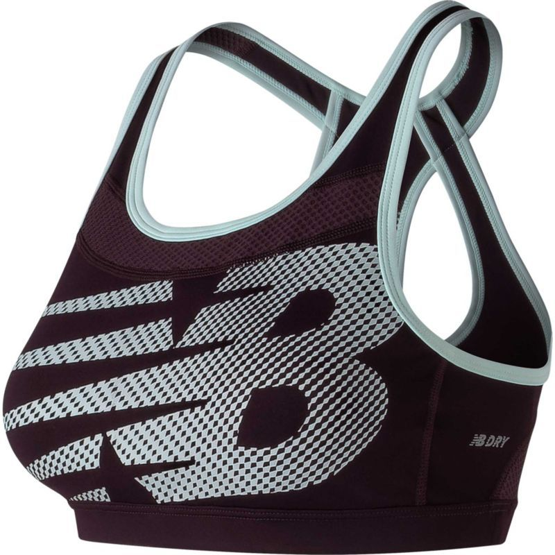New Balance Women's Pulse Sports Bra, Size: Medium, Black