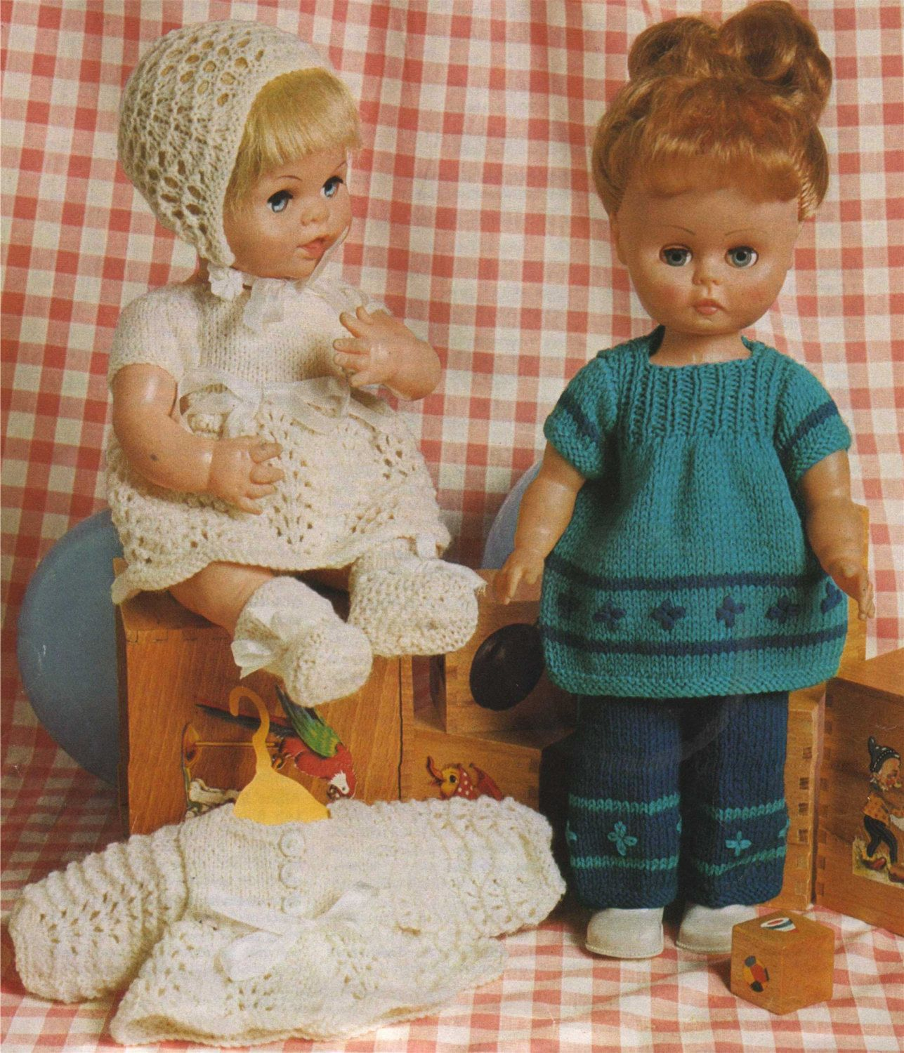 Dolls Clothes Knitting Pattern Pdf For 14 Inch Doll And 12 Etsy Baby Doll Clothes Patterns Knitting Patterns Knitted Baby Outfits