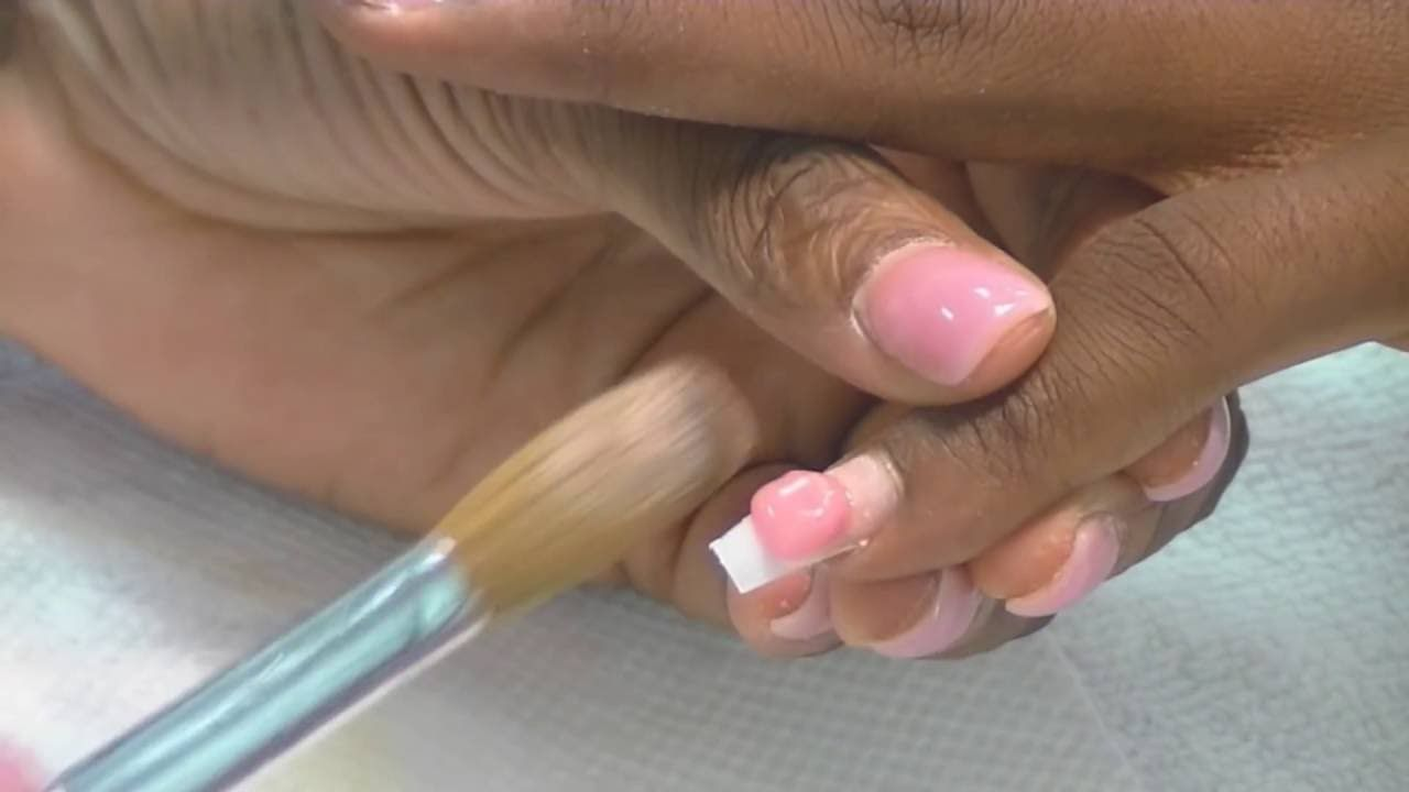 Learn To Do Acrylic Nails At Home Applying The Acrylic Tutorial Acrylic Nails At Home Nails At Home Acrylic Nails