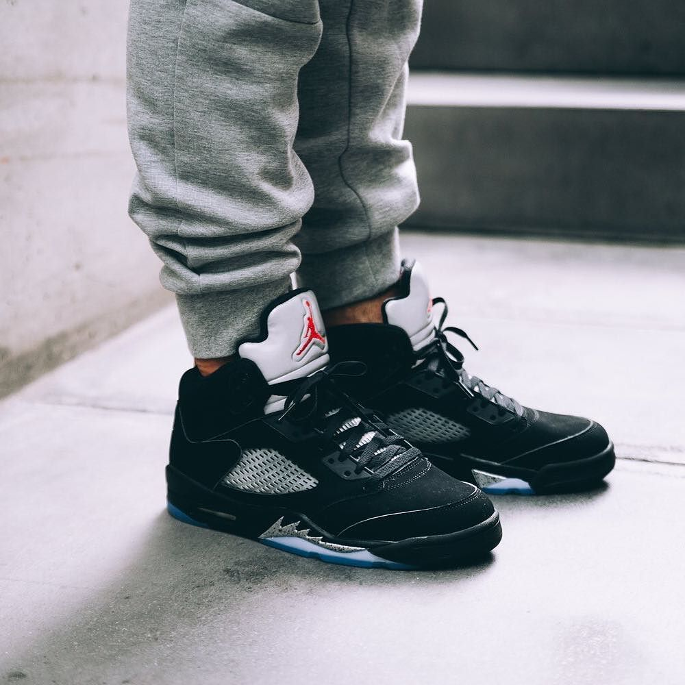 d2138749a084 Relive vintage air. The Air Jordan 5 Retro OG  Metallic Silver  is  available now at kickbackzny.com.