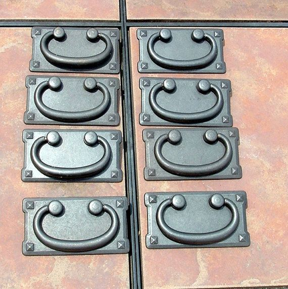 Set Of 8 Mission Style Drawer Pulls On Etsy 32 00