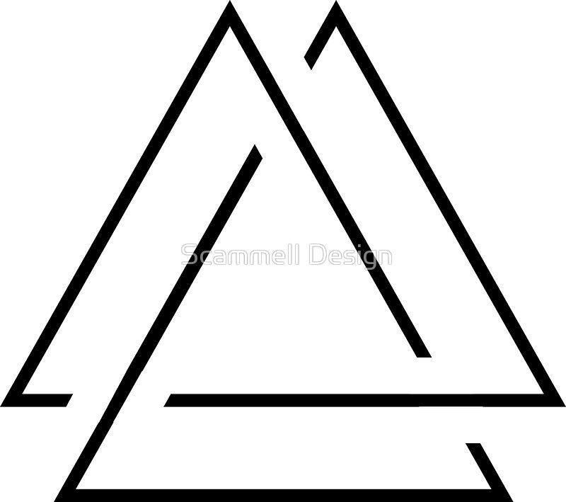 Three Triangles Design Sticker By Crampsy Design Triangle Design Design Unique Designs