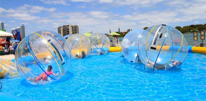 Human Hamster Ball Floating This Would Be So Much Fun For Our