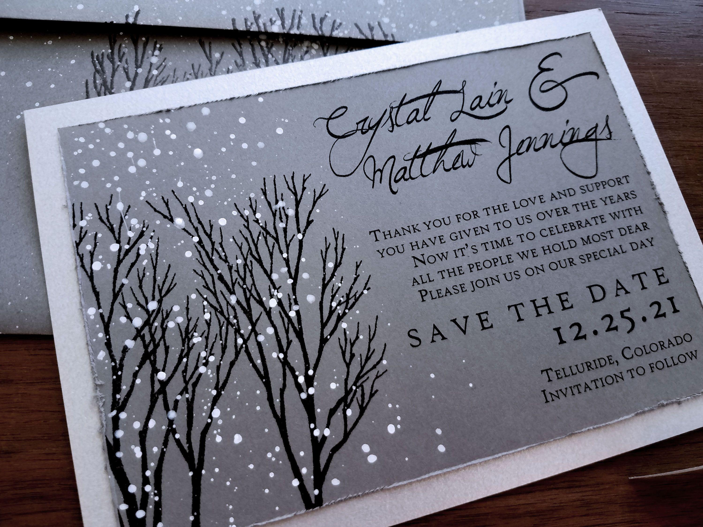 Winter Wonderland Wedding Save