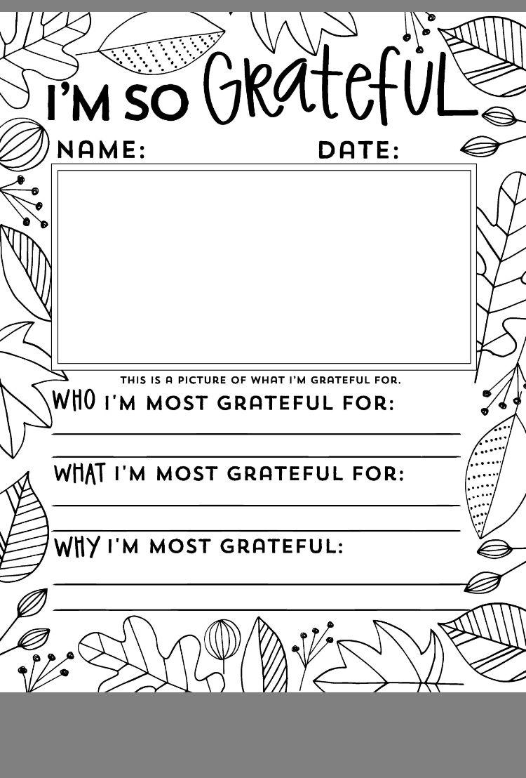 I M So Grateful For Thanksgiving School Homeschool Thanksgiving Thanksgiving Kindergarten [ 1108 x 750 Pixel ]