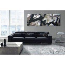 Cuadro abstracto decoración interiores con textura pintado a mano