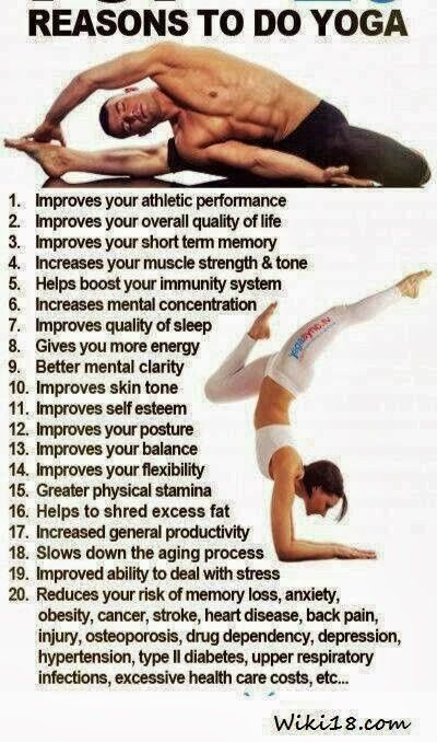 I love Yoga. For all these reasons and more.