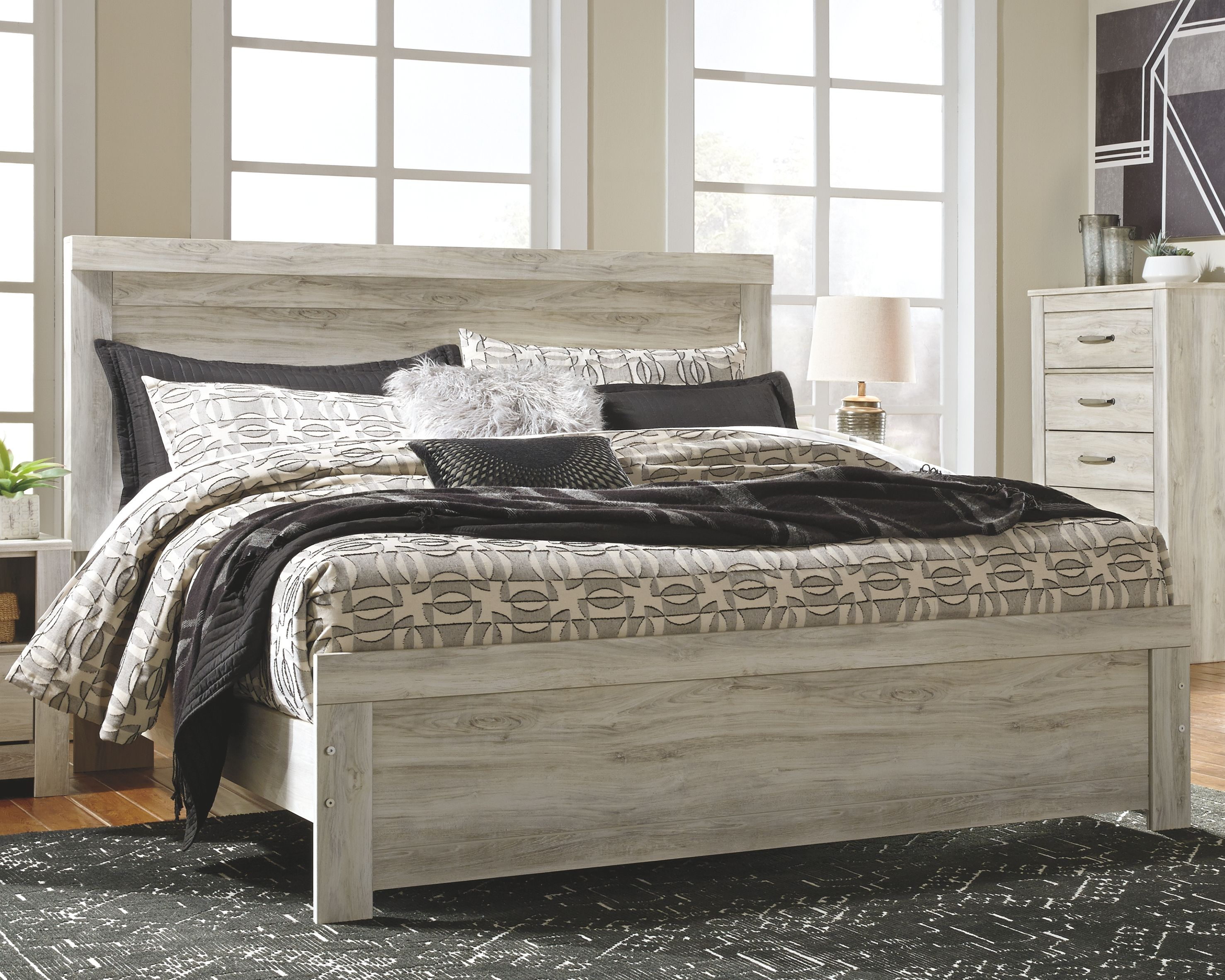 Bellaby King Panel Bed Bed furniture set, Queen panel