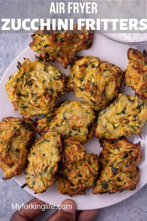 Air Fryer Zucchini Fritters Recipe Zucchini fritters