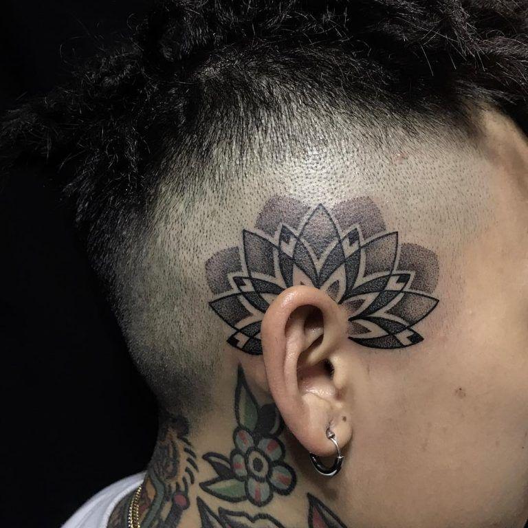 Mandala Tattoo For Men Mandala Tattoo Men Back Of Neck Tattoo Men Head Tattoos