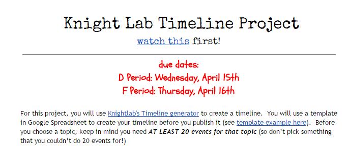 timelinejs embed timeline project create a generator