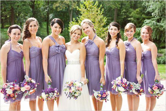 Wedding Lavender Bridesmaids Dress And Color Scheme