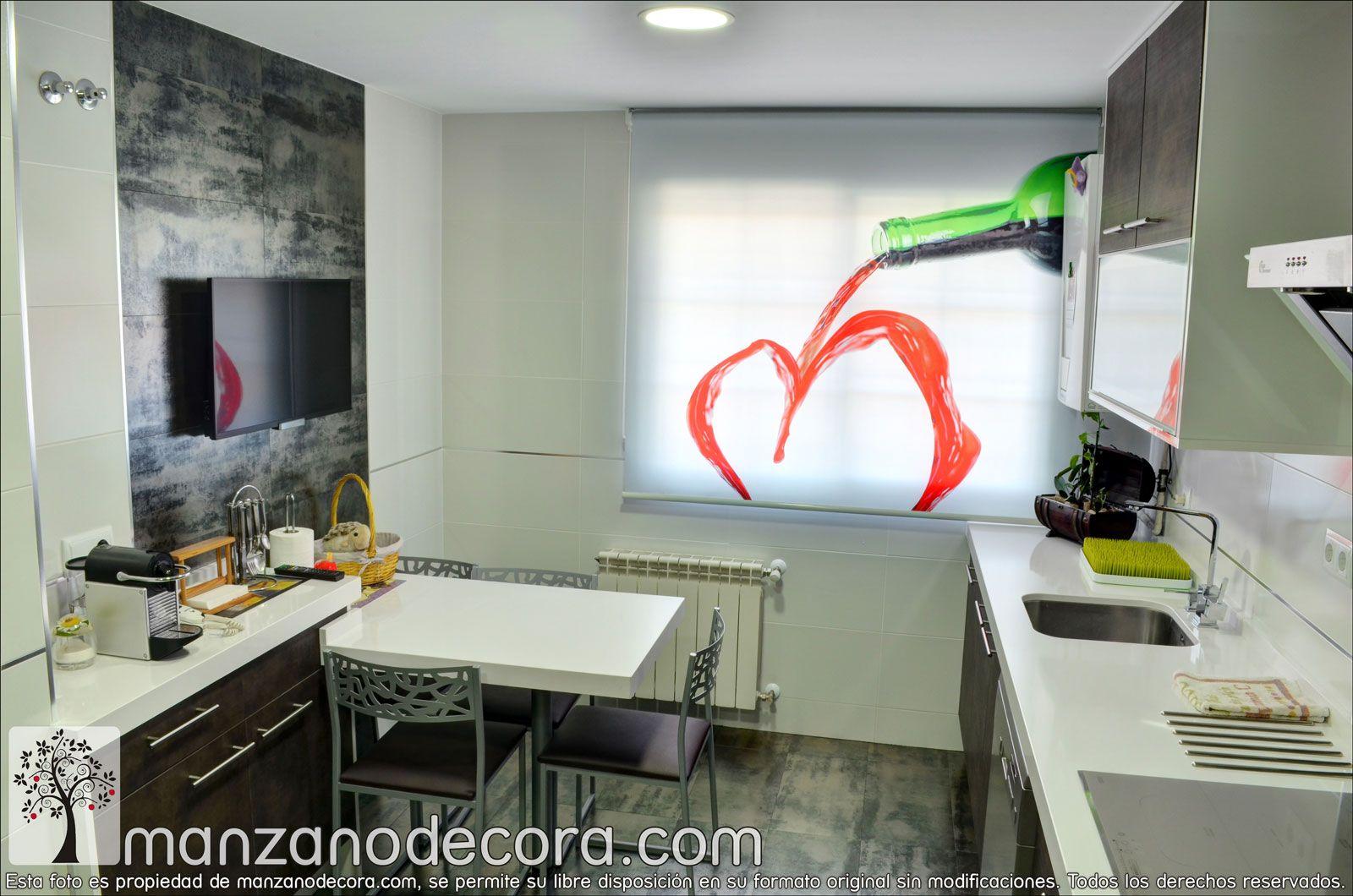 Estores enrollable fotogr fico de cocina - Estores enrollables madrid ...