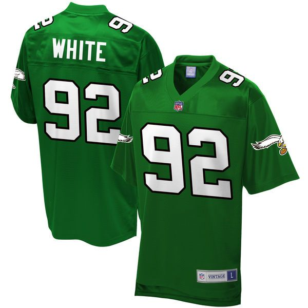 buy online 07c50 8beb6 Reggie White, Eagles Green Jersey S-3X 3XL, 4X 4XL, 5X 5XL ...