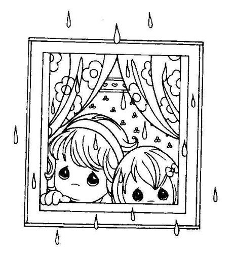 Rainy day coloring pages | precious moments coloring | Pinterest ...