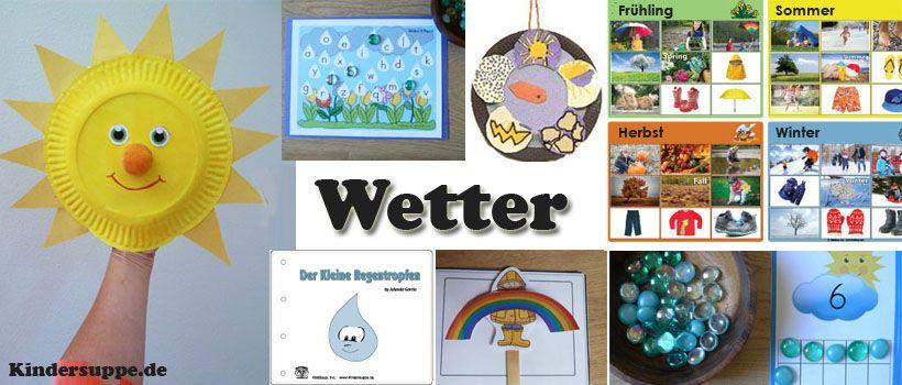 Projekt Wetter - Basteln und Spielideen für Kindergarten ...