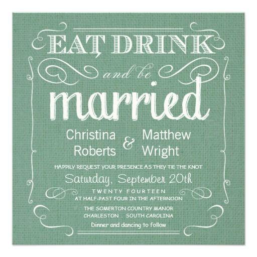 Rustic Burlap Sage Green Wedding Invitations Wedding Burlap and