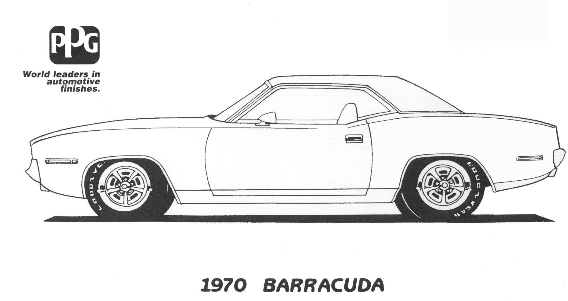 1970 Barracuda Coloring Page From Ppg Cars Coloring Pages