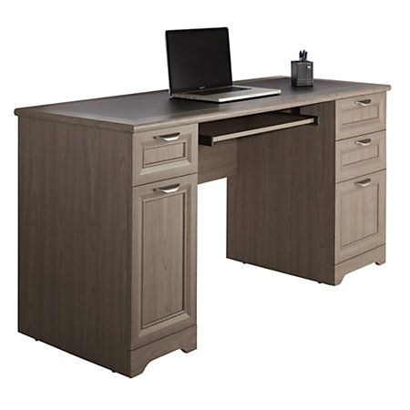 Realspace Magellan Collection Managers Desk Gray Item 751724