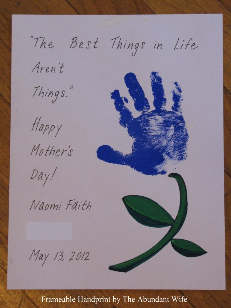 Happy Mother's Day! DIY Handprint Flowers   The Abundant ...