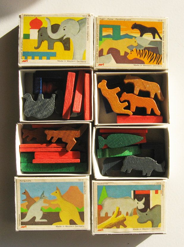 Vintage German Toys Wooden Animal Miniatures German Toys Vintage Toys Wooden Animal Toys