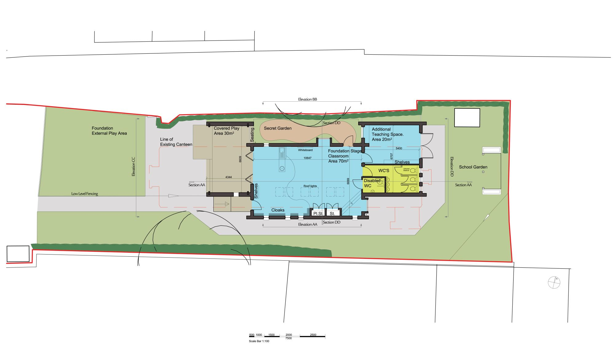 Interior design contemporary children zone plan and sketch also layout information plus measure room friendly · school buildinglandscaping